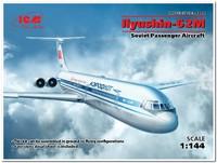 Ил-62М пассажирский самолет . 14405 ICM 1:144