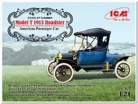 Model T 1913 Roadster пассажирский автомобиль. 24001 ICM 1:24