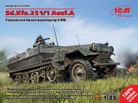 Sd Kfz 251/1 Ausf A полугусеничный бронетранспортер. 35101 ICM 1:35