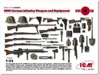 Вооружение и снаряжение Германской пехоты І МВ. 35678 ICM 1:35
