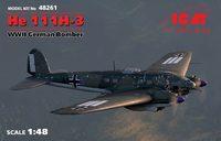He-111 H-3 средний бомбардировщик. 482561 ICM 1:48