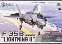 F-35 Lightning II истребитель-бомбардировщик поколения 5. KH80102+ Kitty Hawk 1:48