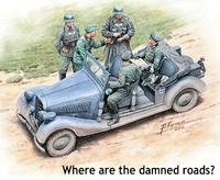 """""""Где эта чертова дорога?"""" Автомобиль с экипажем. MB35112 Masterbox 1:35"""