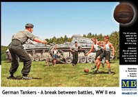 Немецкие танкисты между боями. Масштаб 1/35