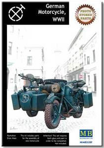 Германский мотоцикл с фототравлением - MB3528F Master Box 1:35