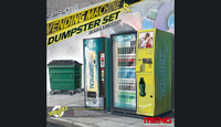 Вендинговые автоматы и мусорный контейнер. SPS-018 Meng 1:35