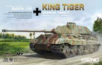 Т-VIВ «Королевский Тигр» (Sd.Kfz.182 Porsche Turret) тяжелый танк c башней Порше. TS-037 Meng 1:35