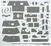 Декаль «Циммерит» (Sd.Kfz.171 Panther Ausf.D Zimmerit ). SPS-058 Meng 1:35