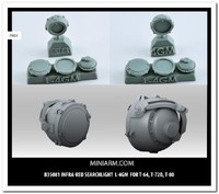 Л-4ГМ инфракрасный прожектор для T-64; T-72B; T-80. B35081 Miniarm 1:35