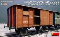 Железнодорожный крытый вагон 18 т. (тип НТВ) - 35288 MiniArt 1:35