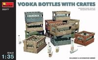 Бутылки водки и ящики (дополения для диорам) - 35577 Miniart 1:35