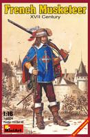 Французский мушкетер XVII век. 16009 MiniArt 1:16