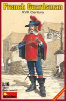 Французский гвардеец XVII век. 16011 MiniArt 1:16