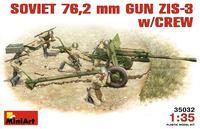 ЗиС-3 76,2-мм дивизионная пушка с расчетом. 35032 MiniArt 1:35