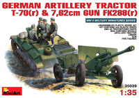 Pz 743 (r) артиллерийский тягач с пушкой FK 288 (r) и экипажем (Т-70 с ЗиС-3). 35039 MiniArt 1:35