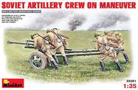 Советский артиллерийский расчет на маневре (5 фигурок и пушка ЗиС-3) - 35081 Miniart 1:35