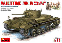 Mk.III Valentine IV пехотный танк с советским экипажем. 35092 MiniArt 1:35