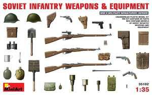Советское пехотное оружие и амуниция. 35102 MiniArt 1:35
