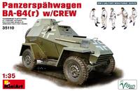 Panzerspahwagen BA-64 (r) c экипажем (БА-64). 35110 MiniArt 1:35