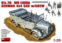 Kfz.70 L1500A штабной автомобиль 4х4 с экипажем. 35139 MiniArt 1:35