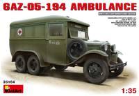 ГАЗ-05-194 армейский санитарный автобус. 35164 MiniArt 1:35