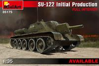 СУ-122 САУ ранних серий с интерьером. 35175 MiniArt 1:35