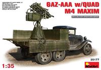ГАЗ-ААА c ЗПУ М4 (счетверенный Максим на тумбе). 35177 MiniArt 1:35