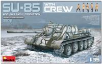 СУ-85 ПТ САУ с экипажем начало 1943 г. 35178 MiniArt 1:35