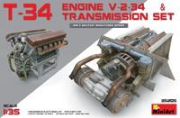 В-2-34 двигатель с трансмиссией. 35205 MiniArt 1:35