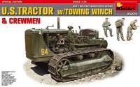 D7 тяжелый трактор с буксирной лебедкой и экипажем. 35225 MiniArt 1:35