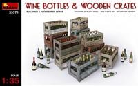 Винные бутылки и деревянные ящики. 35571 MiniArt 1:35