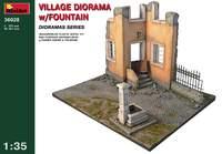 Деревенская диорама с фонтаном. 36028 MiniArt 1:35