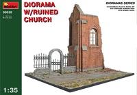 Диорама с руинами церкви. 36030 MiniArt 1:35
