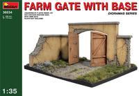 Ворота фермы с основанием. 36034 MiniArt 1:35