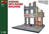 Диорама с разрушенными домами. 36036 MiniArt 1:35
