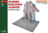 Разрушенный дом с основанием. 36049 MiniArt 1:35