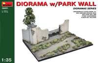 Диорама с парковой стеной. 36051 MiniArt 1:35