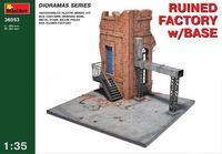 Разрушенная фабрика с основанием. 36053 MiniArt 1:35