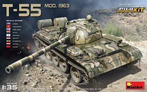 Т-55 обр. 1963  средний танк с интерьером. 37018 MiniArt 1:35