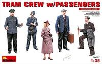 Экипаж трамвая с пассажирами. 38007 MiniArt 1:35