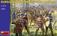 Бургундские рыцари и лучники XV век. 72001 MiniArt 1:72