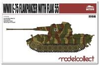 Е-75 проект ЗСУ с 2х5.5 cm Flak Gerat 58 UA72019 Modelcollect 1:72