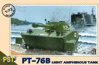 Легкий танк-амфибия ПТ-76Б. PST 1:72