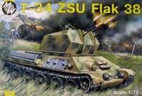 Зенитная установка T-34 ZSU Flak 38. Масштаб 1/72
