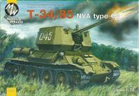 Танк T-34/85  NVA тип 63. Масштаб 1/72