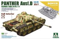 Panther Ausf D (Пантера-Д) с интерьером и прозрачной башней - 2103 Takom 1:35