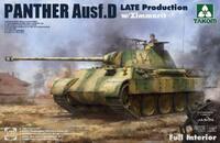 Panther Ausf D (Пантера-Д) с интерьером и циммеритом - 2104 Takom 1:35