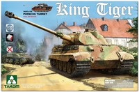 Т-VIВ «Королевский Тигр» тяжелый танк с башней «Порше» и полным интерьером. 2074 Takom 1:35