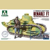 Рено FT-17 пулеметный легкий танк (Renault FT mle 1917). 1002 Takom 1:16