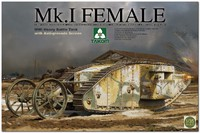 Мк. I «Самка» танк-ромб (Mark I Female). 2033 Takom 1:35